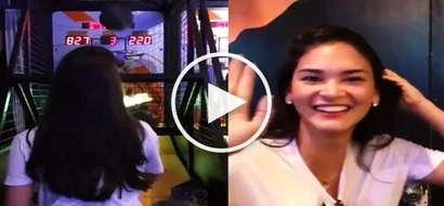 Pia Wurtzbach amazes BF Marlon Stockinger with her epic basketball shooting skills at arcade