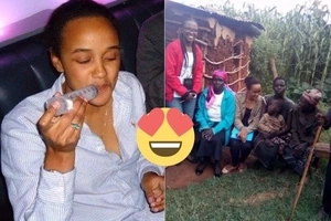 A photo of Uhuru's daughter spending time with a poor family in Rutos backyard excites the internet