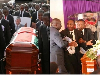 Man disrupts burial of Nkaissery, claims he was sent to resurrect him