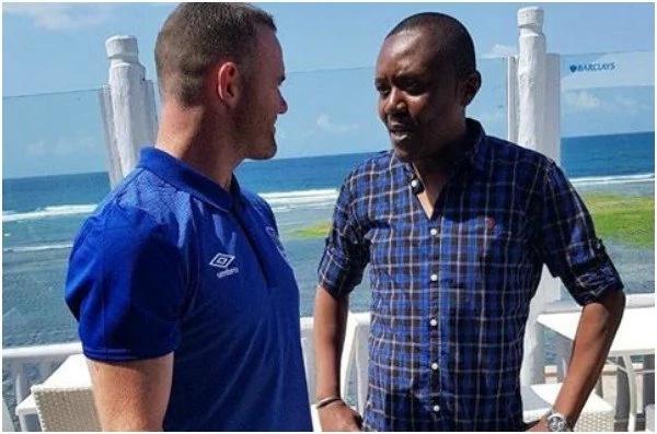 Maina Kageni meets his 'idol' Wayne Rooney and Kenyans can't deal (PHOTO)