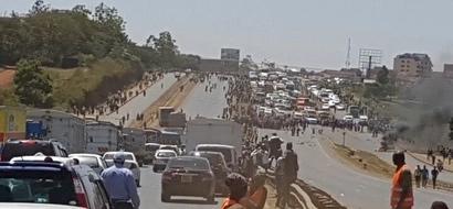 Polisi walazimika kuingilia kati baada ya GHASIA kuzuka katika bara bara ya Thika