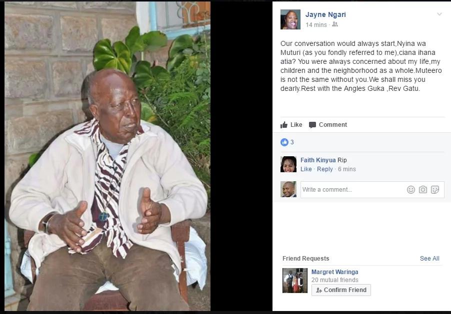 Uhuru mourns gatu