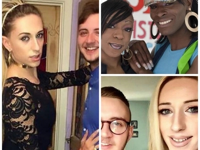 See man and woman who both changed sex to become transgender PARENTS (photos)