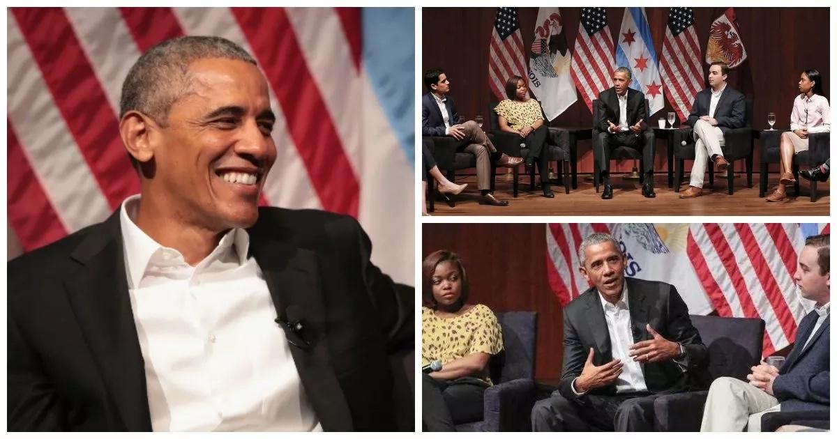 Obama makes refreshing return to public life (photos, video)