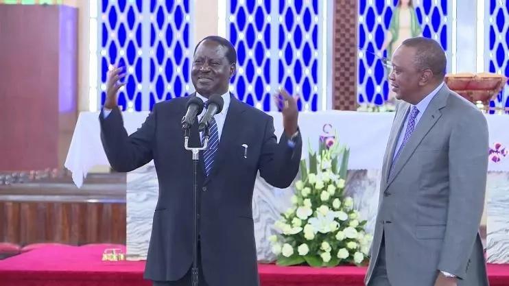 Raila Odinga, Uhuru Kenyatta celebrate the late Mzee Jomo
