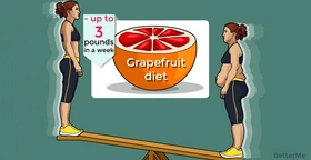 You can lose up to 3 pounds in a week with grapefruit diet