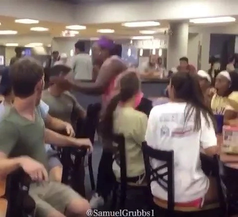 This girl knocks this guy out cold for pulling on her ponytail