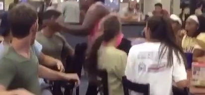 This girl knocks a guy out cold for pulling on her ponytail
