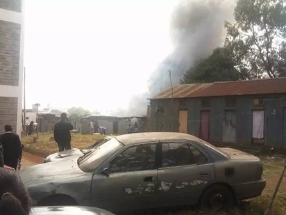 Police officers left homeless after fire erupts at Central Police station, Nairobi