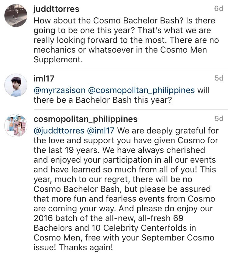 Cosmo PH fails avid fans of bachelor bash