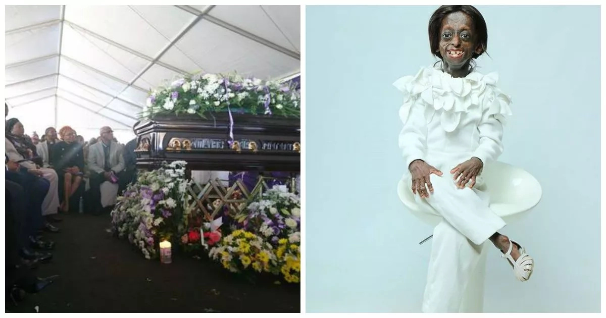 Tiny giant! First black progeria girl, 18, who touched hearts of Africans laid to rest amidst tears (photos, video)