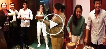 Watch Kathryn Bernardo & Matteo Guidicelli get a surprise party from crew of 'Can't Help Falling in Love' as they celebrate same birthday!