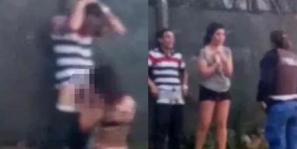 Los detuvieron por dar tremendo show de sexo oral en la calle