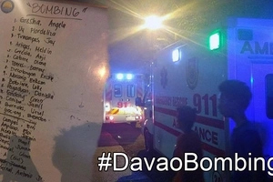 Davao City 'bombing' victims list released; a BABY said to be among those killed