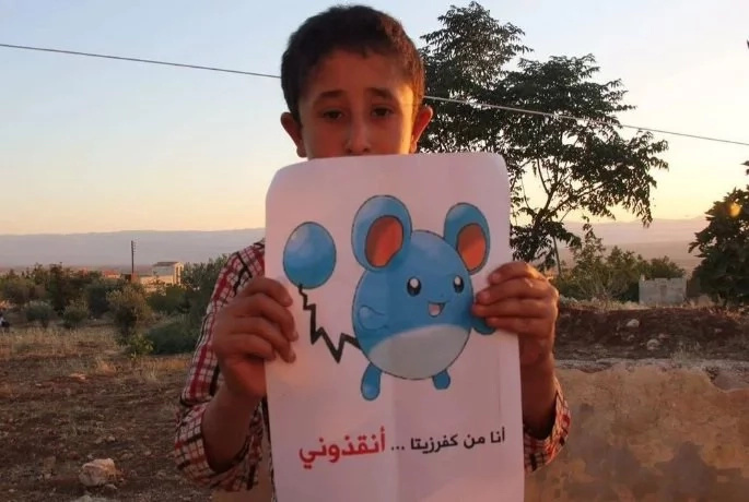 Syrian children plead for help through posting Pokemon photos
