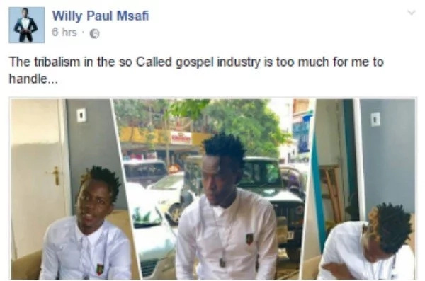 After signing with Diamond Platinumz, Willy Paul makes a DAMNING statement against the Kenyan gospel industries
