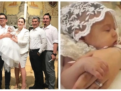 Proud na proud si lolo! Albert Martinez's granddaughter gets baptized