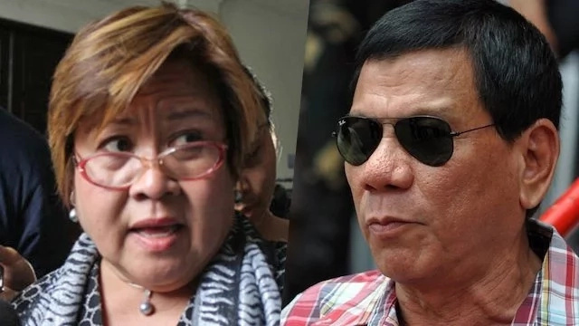 Duterte says he has evidence to back tirades against De Lima