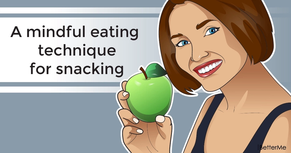 A mindful eating technique for snacking