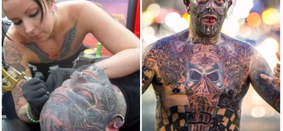 Man covers nearly 100% of his body in tattoos to relieve his crippling chronic pain syndrome