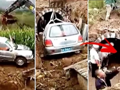 Man was a petrolhead who loved his car more than anything... That even to his grave, he was buried inside his car instead of a traditional coffin