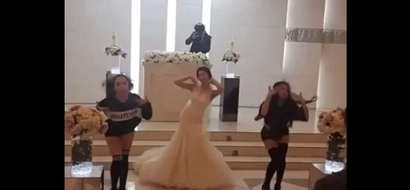 This bride stood out on her wedding day. What she did was so cute.