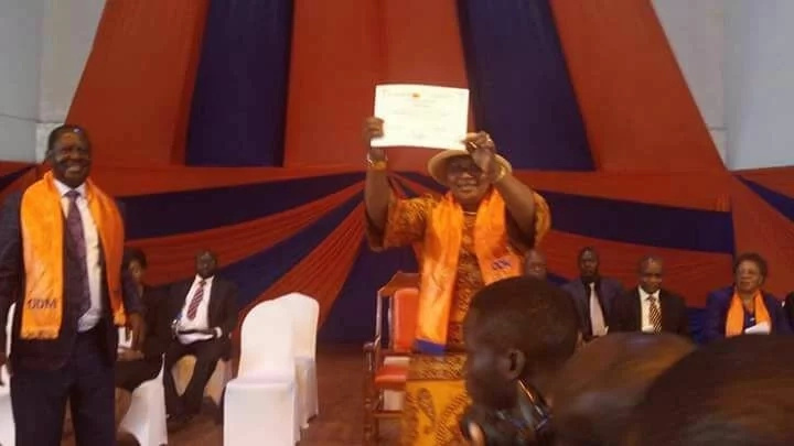 The list of ODM politicians handed direct nomination certificates by Raila Odinga