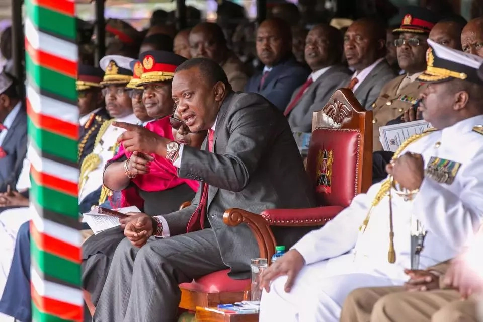 Uhuru reacts after the firing of Kenyan Commander by UN