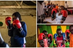 See the boxing girls of Kenya learning to survive in TOUGH neighbourhoods (photos)