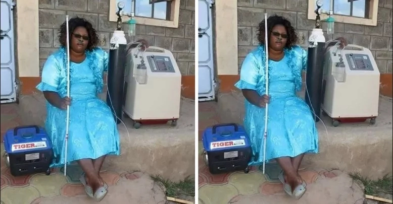 New photo of the lady who walked with oxygen cylinders proves that nothing is impossible