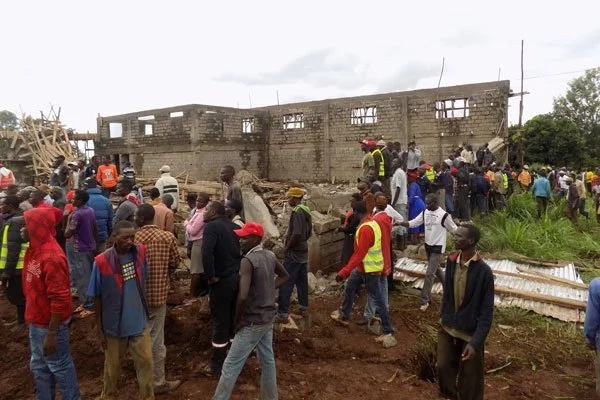Another building collapses hours after eight people died in Mombasa wall tragedy