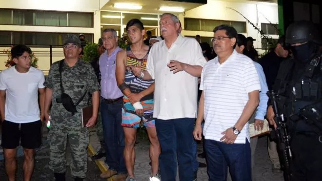 Mexican footballer Allan Pulido rescued