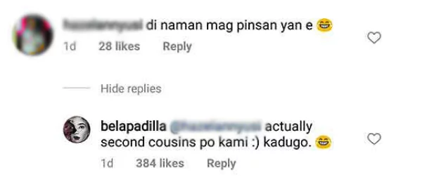 Hindi ba kapani-paniwala? Bela Padilla calls out a netizen for doubting her blood relationship to Daniel Padilla