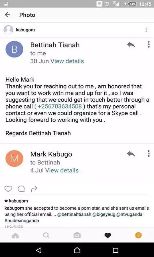 Mtangazaji wa NTV aliyetaka kuiga katika filamu ya ngono