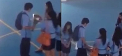 Epic fail proposal! Pinay college student rejects her romantic suitor in front of schoolmates