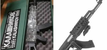 Chupa ya umbo la AK-47 yenye pombe kali yawashtua sana polisi uwanja wa JKIA