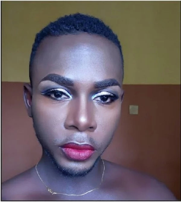 Kenyan man shocks online community after wearing make-up