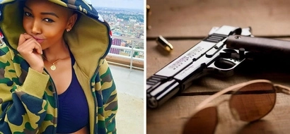 SCARY video of Huddah Monroe playing with a loaded gun