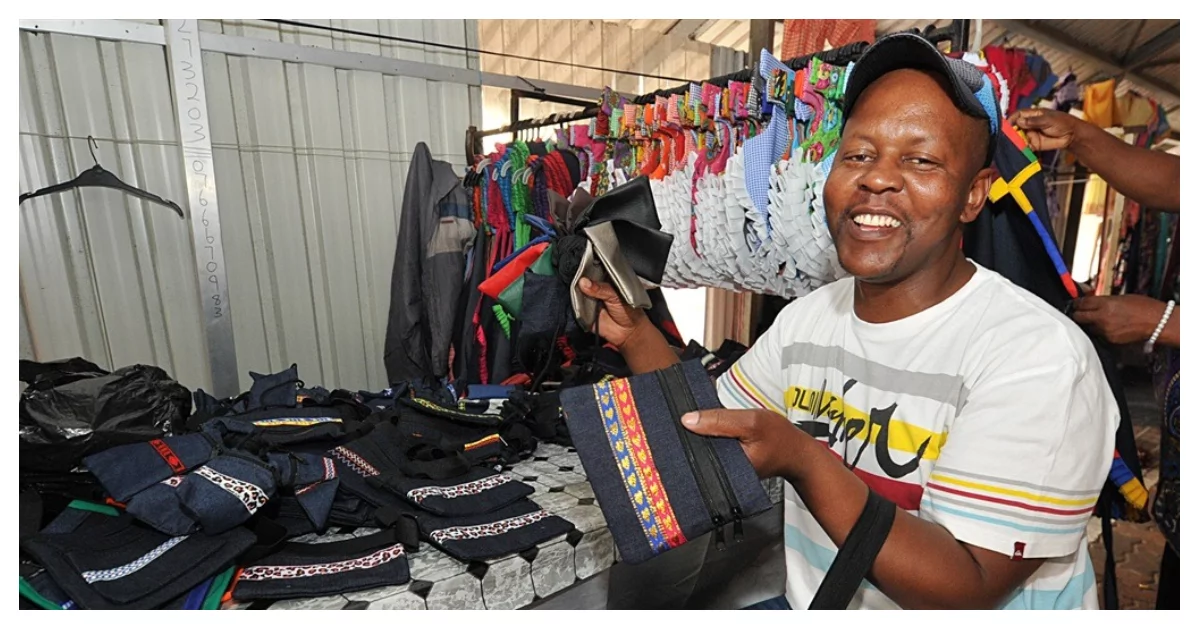 Philemon Motaung turned unemployment into an opportunity to use his God-given sewing skills to make and sell bags countrywide