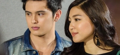 WATCH: James Reid and Nadine Lustre react to kissing caught on cam