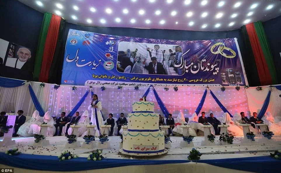 Massive cake for the newlyweds