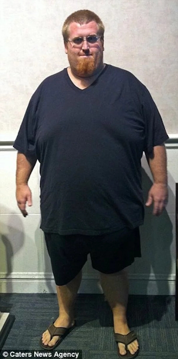 Zach weighed a staggering 209kg three years ago. Photo: Caters News Agency