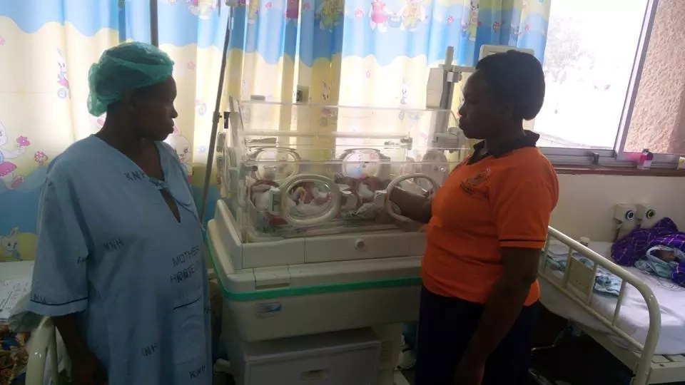 Kenyatta Hospital appeals for help for housewife who gave birth to quadruplets