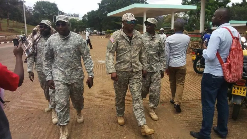 Members of Nairobi Business Community clad in military fatigue leave tongues wagging