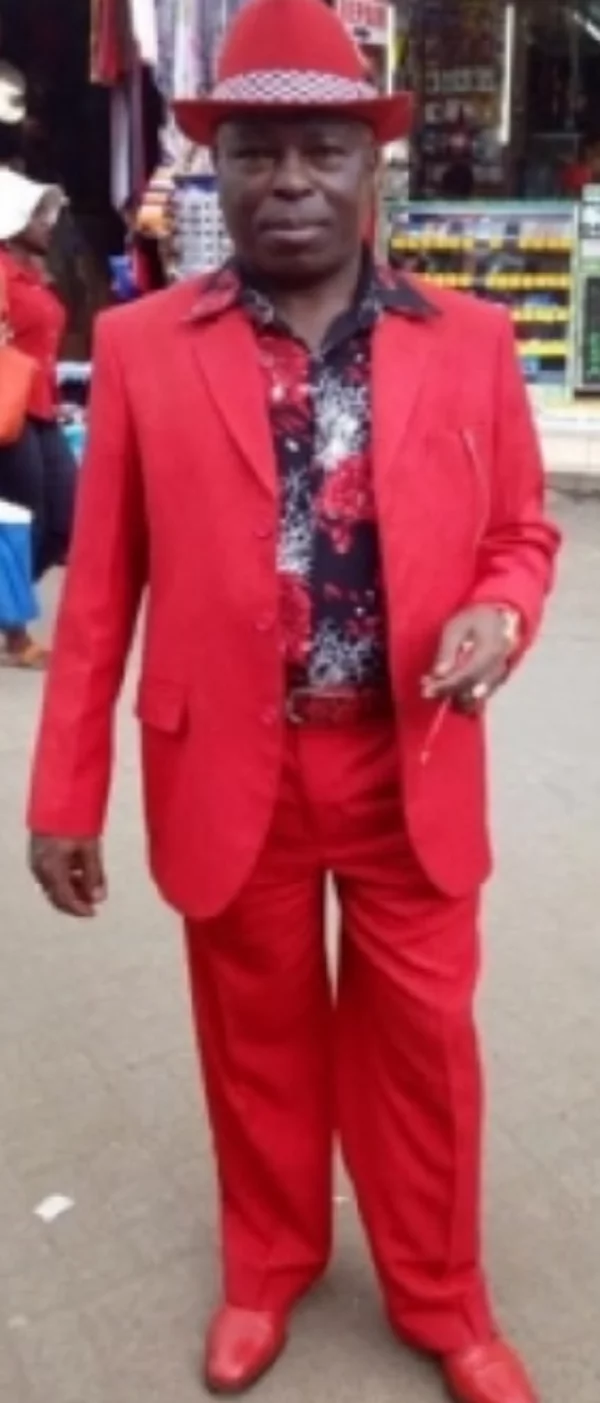 Meet Nairobi man whose suit, underwear, phone cover and belt always match in colour (photos)