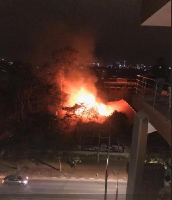St George's girls High School, Nairobi Kitchen goes down in flames