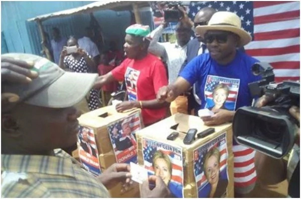 Hillary Clinton wins by a landslide in k'ogello and it is interesting