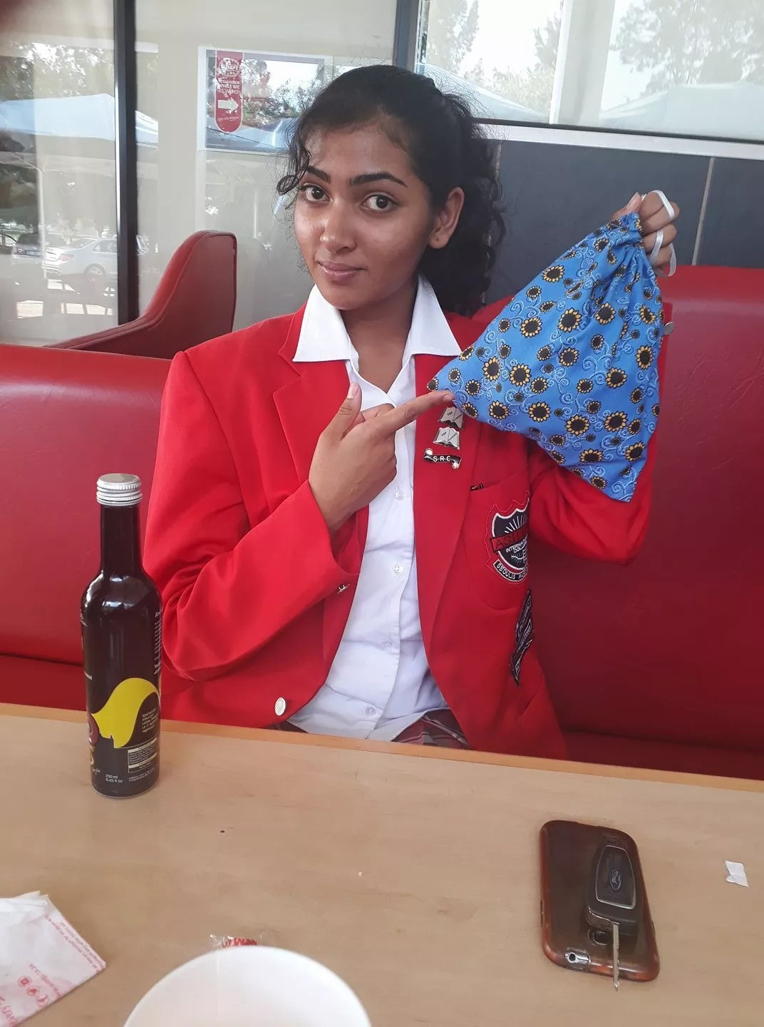 Sehera Bisnath is determined to help underprivileged girls get access to sanitary towels. Photo: LeadSA