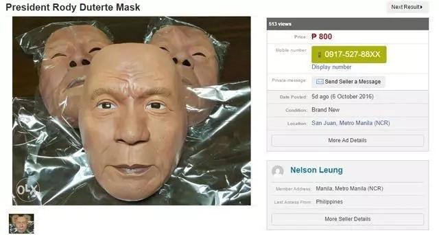 Duterte-mask