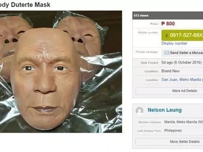 Duterte Halloween mask will surely give you the scare